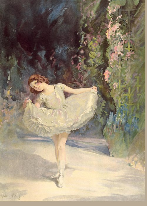Ballet Greeting Card featuring the painting Ballet by Septimus Edwin Scott