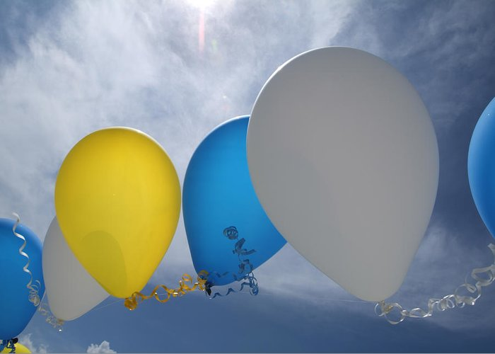 Balloons Greeting Card featuring the photograph Balloons by Patrick M Lynch