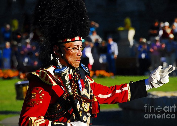 Band Leader Greeting Card featuring the photograph Band Leader by David Lee Thompson