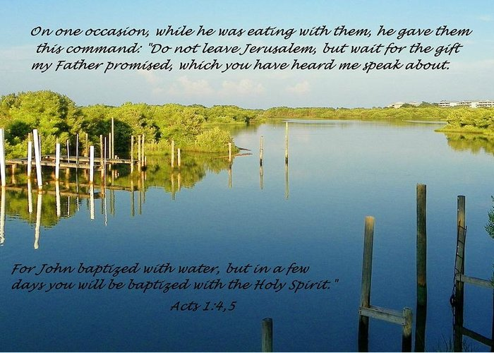 Tides Greeting Card featuring the photograph Baptized by Sheri McLeroy