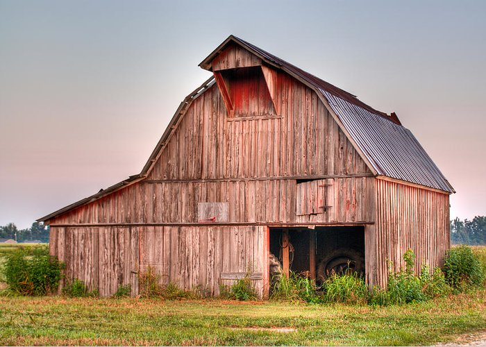 Barn Greeting Card featuring the photograph Barn Near Walnut Ridge Arkansas by Douglas Barnett