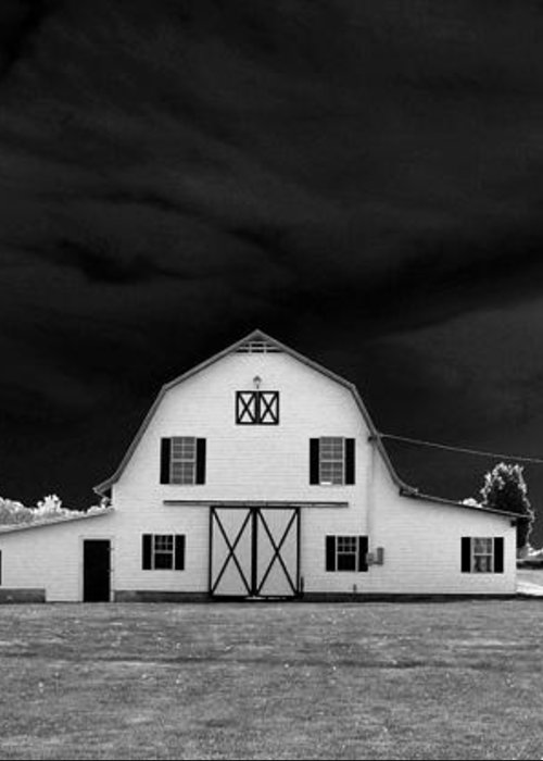Barn Storm Greeting Card featuring the photograph Barn Storm by Julian Bralley