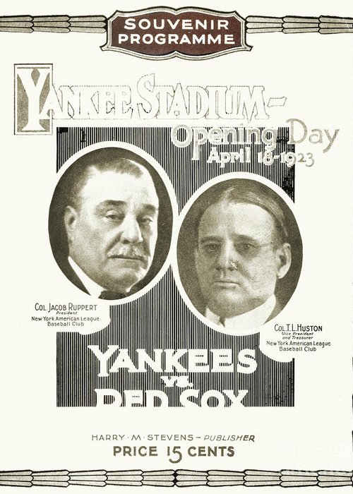 1923 Greeting Card featuring the photograph Baseball Program, 1923 by Granger