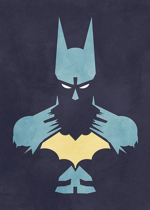 Batman Greeting Card featuring the digital art Batman by Jason Longstreet
