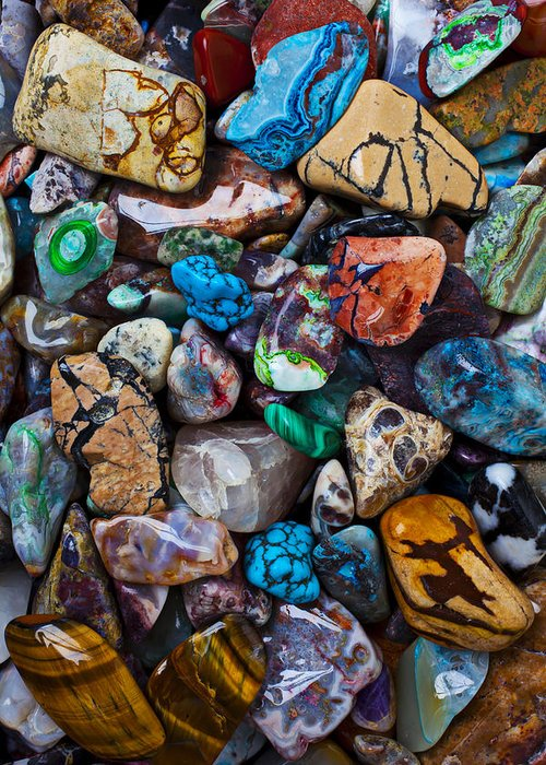 Stone Greeting Card featuring the photograph Beautiful Stones by Garry Gay