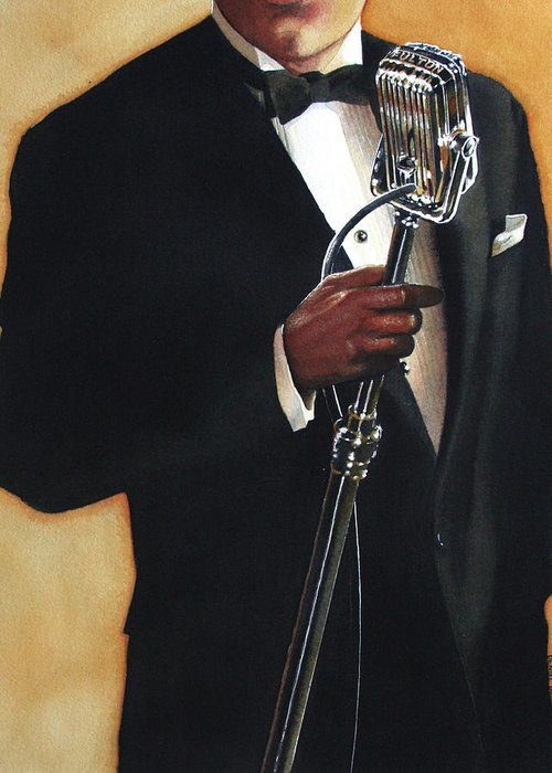 Singer Greeting Card featuring the painting Becoming A Legend by Denny Bond