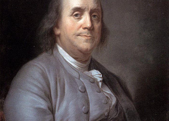 1783 Greeting Card featuring the photograph Benjamin Franklin by Granger