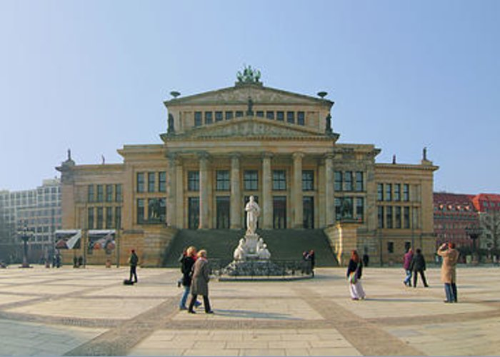 Berlin Greeting Card featuring the photograph Berlin - Gendarmenmarkt by Marc Huebner
