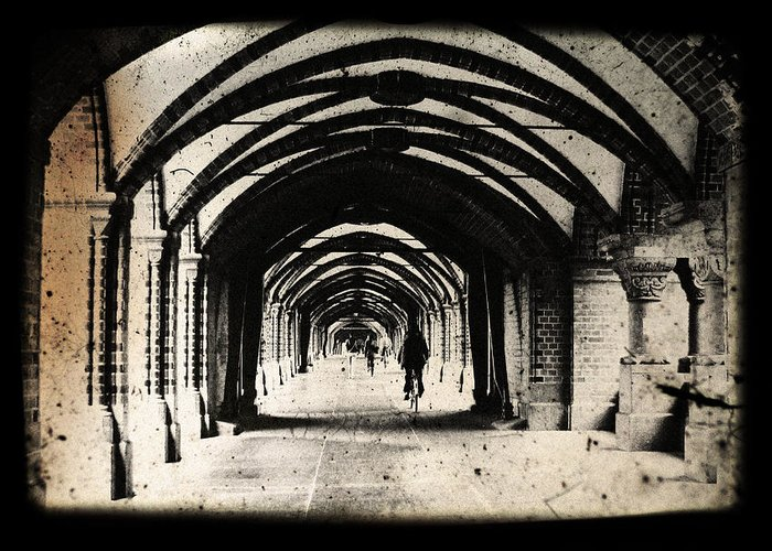 Alter Greeting Card featuring the photograph Berlin Arches by Andrew Paranavitana