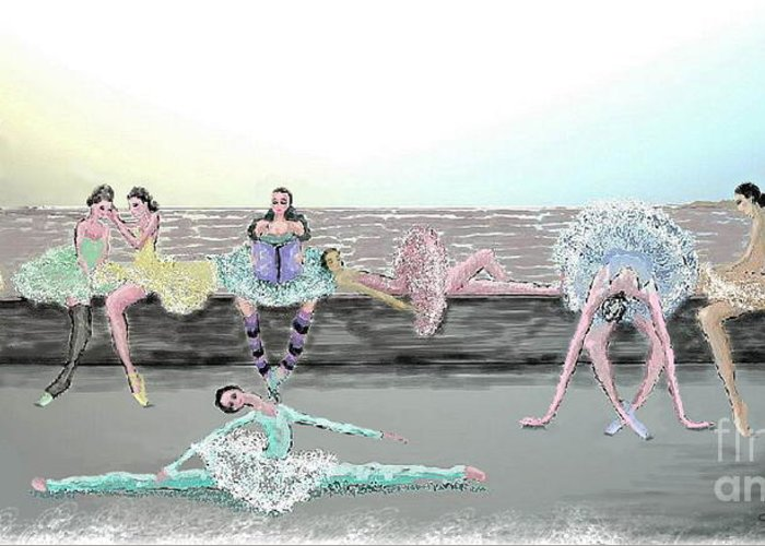 Ballet Greeting Card featuring the painting Between Acts by Cynthia Sorensen