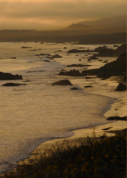 Big Sur Greeting Card featuring the photograph Big Sur Coastline by Don Wolf
