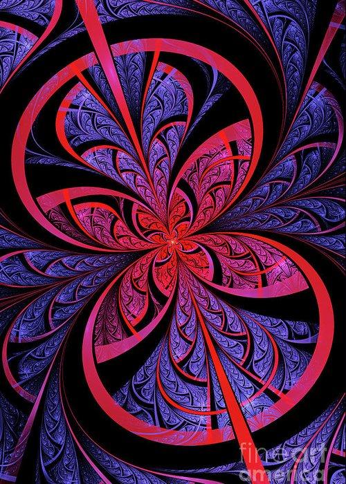 Flame Fractal Greeting Card featuring the digital art Bipolar by John Edwards