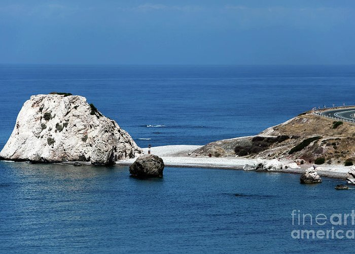 Rock Greeting Card featuring the photograph Birth Place Of Aphrodite by John Rizzuto