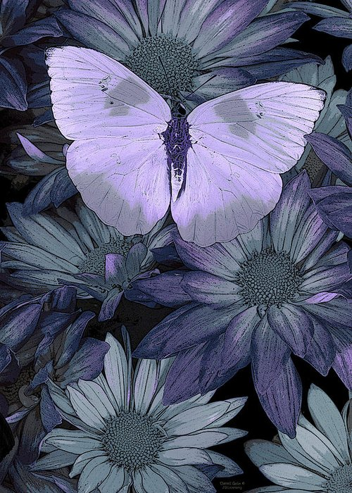 Butterfly Greeting Card featuring the painting Blue Butterfly by JQ Licensing