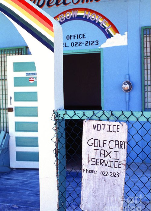Caye Caulker Greeting Card featuring the photograph Blue Rainbow by Thomas R Fletcher