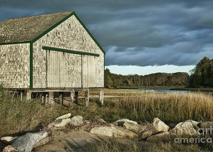 Cape Cod Greeting Card featuring the photograph Boathouse by John Greim