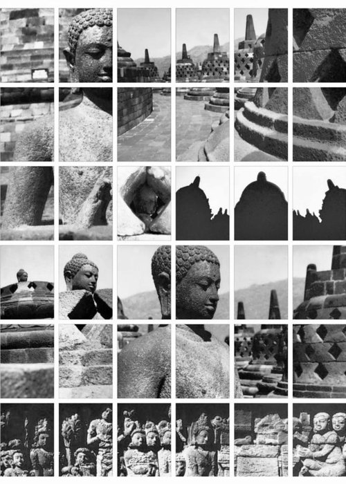 Image Greeting Card featuring the photograph Borobudur In Frame by Mario Bennet