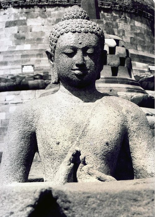 Image Greeting Card featuring the photograph Borobudur Temple by Mario Bennet