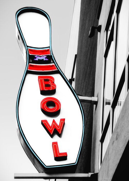 Bowl Greeting Card featuring the photograph Bowling by Steven Michael