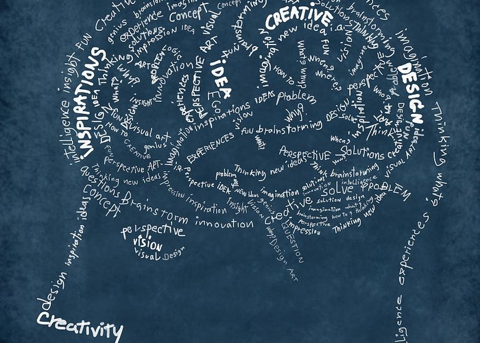 Anatomy Greeting Card featuring the photograph Brain Drawing On Chalkboard by Setsiri Silapasuwanchai