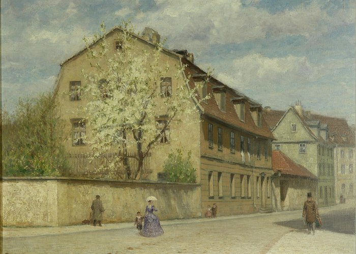 Braune Greeting Card featuring the painting Braune Weimar by Christoph Martin Weiland