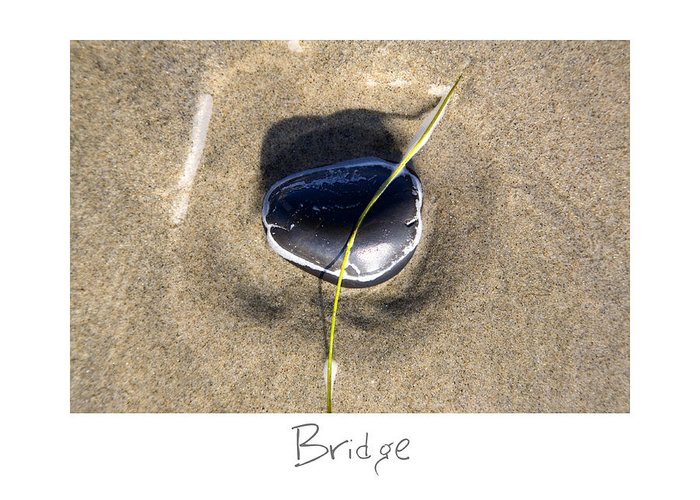 Beach Art Greeting Card featuring the photograph Bridge by Peter Tellone