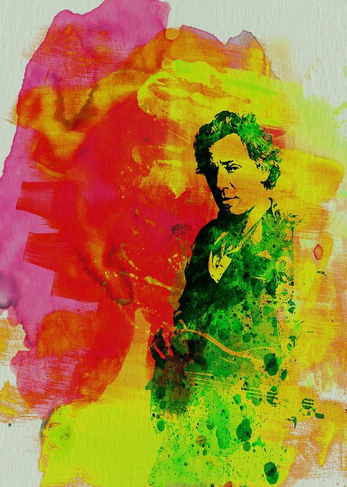 Bruce Springsteen Greeting Card featuring the painting Bruce Springsteen by Naxart Studio