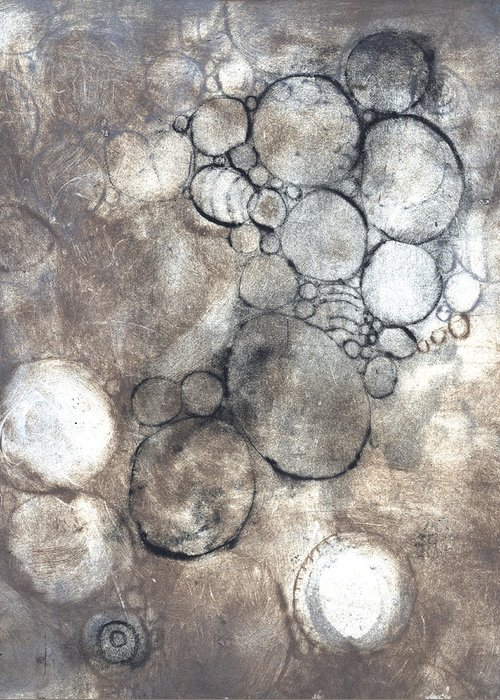 Intaglio Greeting Card featuring the photograph Bubbles by Rockstar Artworks