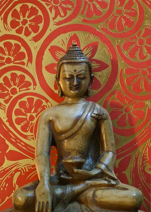 Buddha Greeting Card featuring the photograph Buddha 2 by Edward Myers