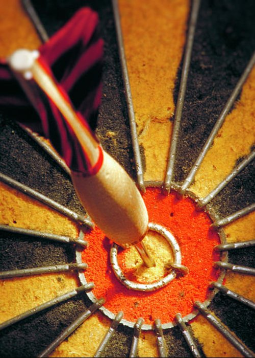Accuracy Greeting Card featuring the photograph Bulls Eye by John Greim