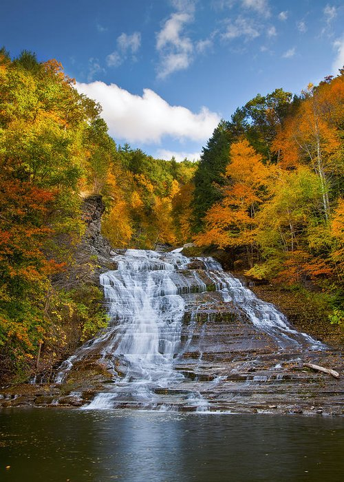 Waterfall Greeting Card featuring the photograph Buttermilk Falls 2 by Mark Papke