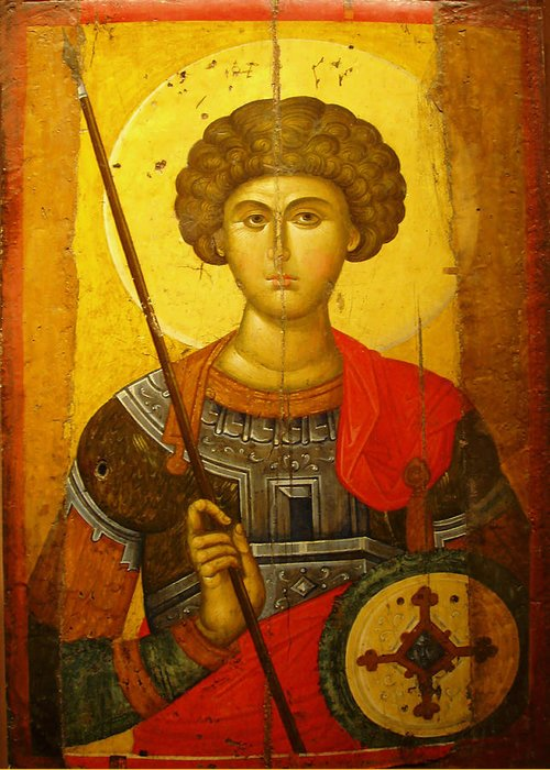 Byzantine Knight Greeting Card featuring the photograph Byzantine Knight by Ellen Henneke