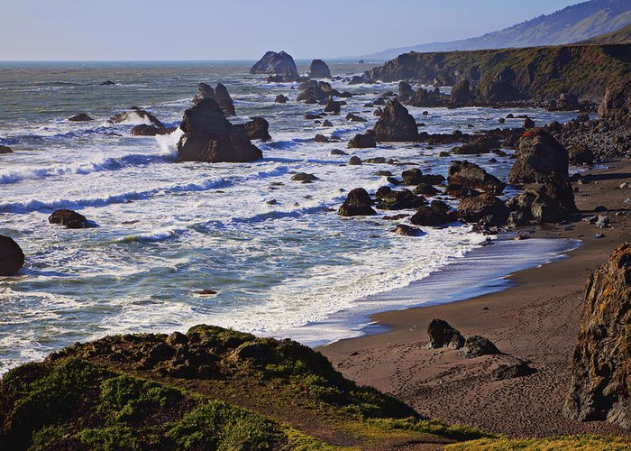California Coast Greeting Card featuring the photograph California Coast Sonoma by Garry Gay