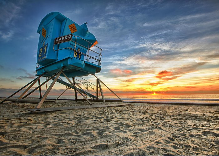 Sunset Greeting Card featuring the photograph California Dreaming by Larry Marshall