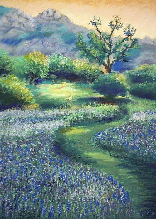 California Spring Flowers Greeting Card featuring the painting California Spring by Karin Leonard