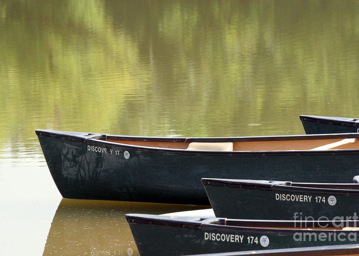 Canoe Greeting Card featuring the photograph Calm Morning by Jeannie Burleson