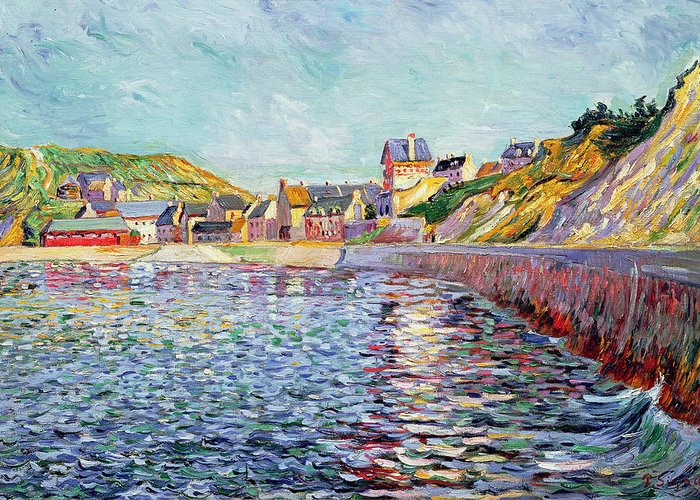 Port-en-bessin Greeting Card featuring the painting Calvados by Paul Signac