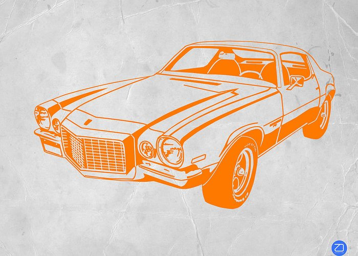 Greeting Card featuring the photograph Camaro by Naxart Studio