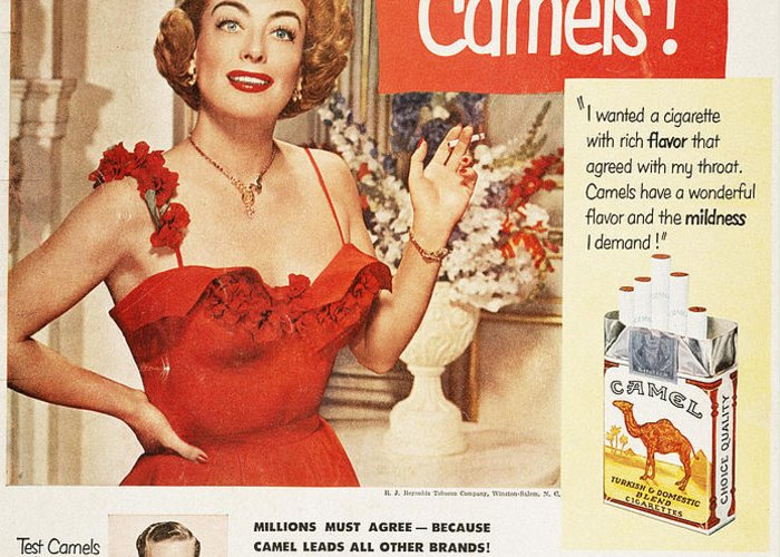1951 Greeting Card featuring the photograph Camel Cigarette Ad, 1951 by Granger