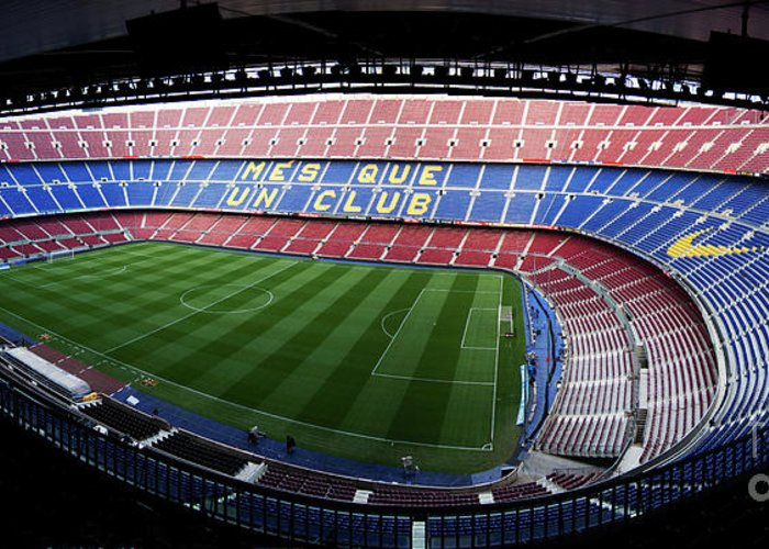 Camp Nou Greeting Card featuring the photograph Camp Nou by Agusti Pardo Rossello