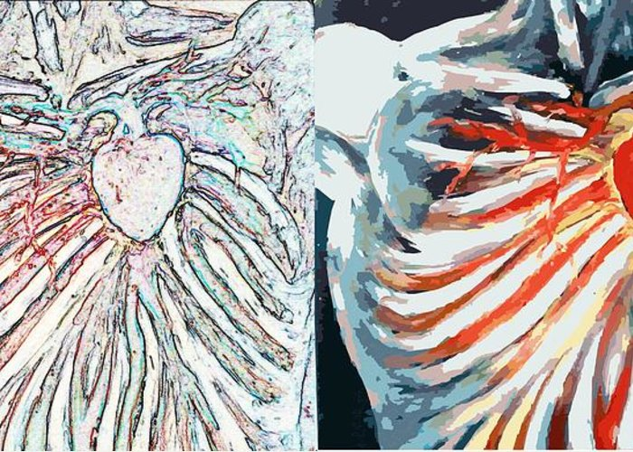 Muscular Organ Greeting Card featuring the digital art Can Not Be Controlled Neither By Intellect Nor The Will by Paulo Zerbato