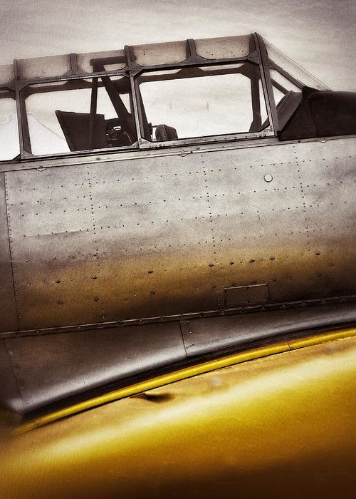 Airplanes Greeting Card featuring the photograph Canary by Pair of Spades