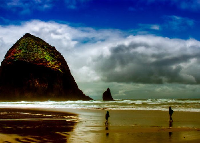 Cannon Beach Greeting Card featuring the photograph Cannon Beach At Dusk IIi by David Patterson