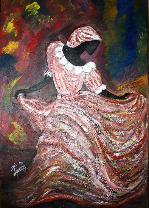 Greeting Card featuring the painting Caribbean Dancer by Laura Fatta