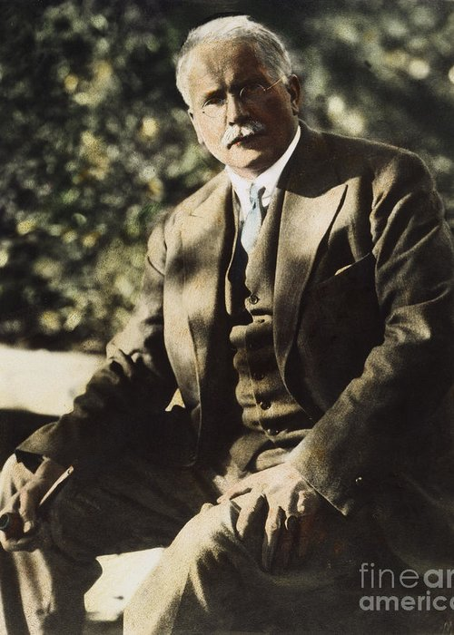 20th Century Greeting Card featuring the photograph Carl G. Jung by Granger