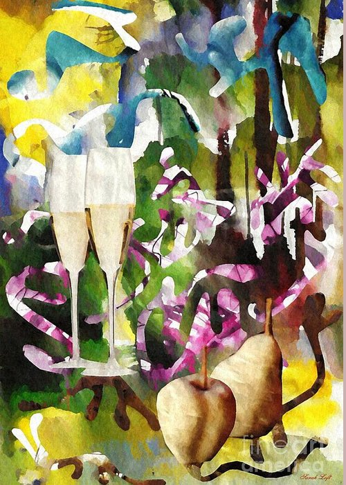 Celebration Greeting Card featuring the mixed media Celebration by Sarah Loft