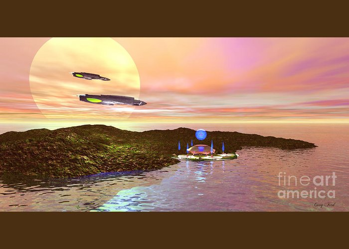 Space Art Greeting Card featuring the painting Celeron 3 by Corey Ford