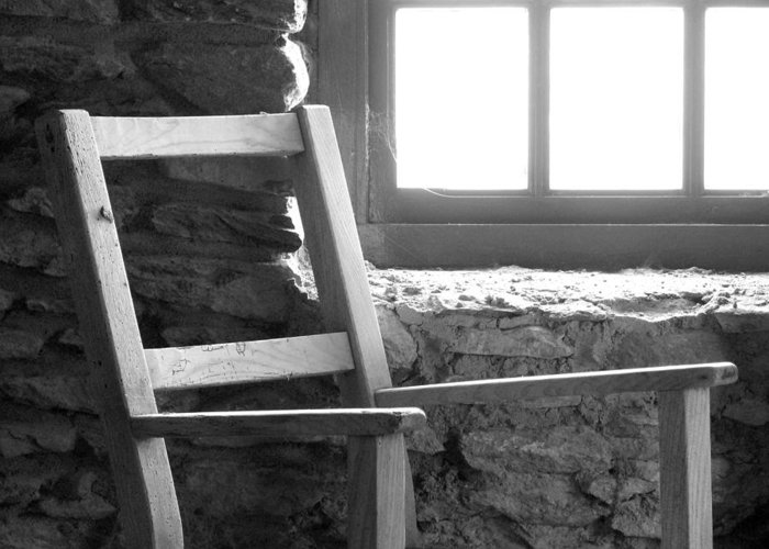 Ireland Greeting Card featuring the photograph Chair By Window - Ireland by Mike McGlothlen