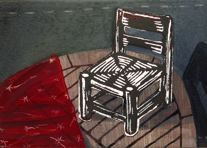 Chair Greeting Card featuring the mixed media Chair II by Peter Allan