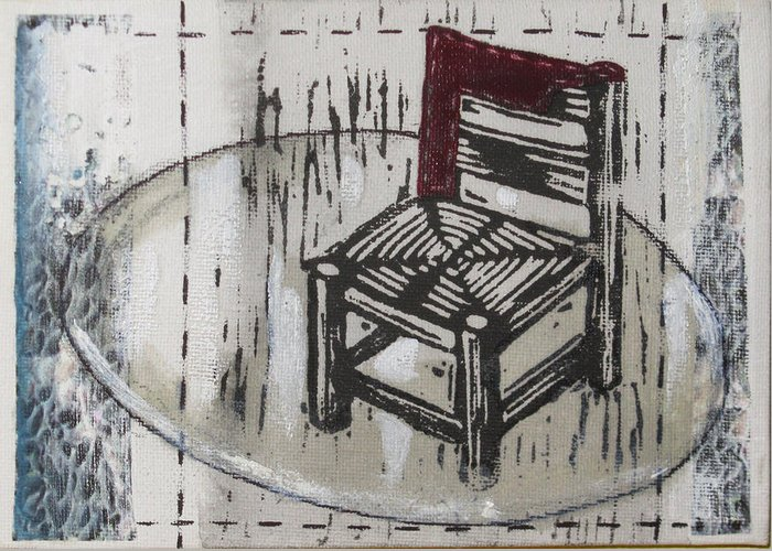 Chair Greeting Card featuring the mixed media Chair Vii by Peter Allan